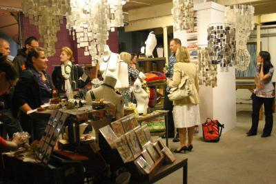salvaged style exhibition opening