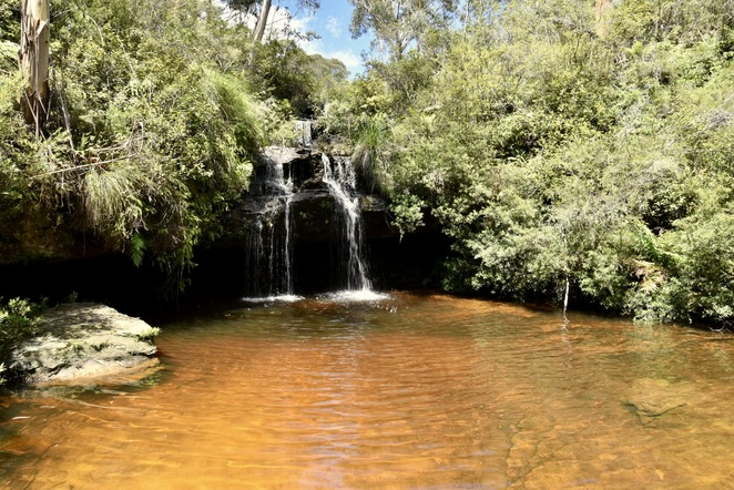 Swimming Hole, Frederica Falls, Lawson Bushwalk, waterfall, Jade Jackson Photography