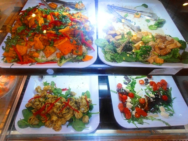 The delicious salad selection at Hari's.