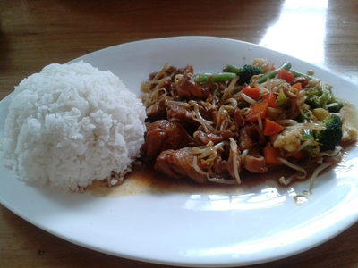 teriyaki chicken chop rice