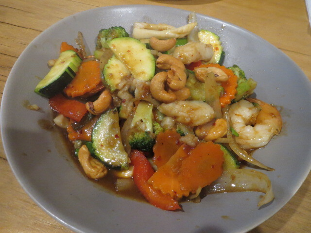 Thai Ayo-Thaya Restaurant, Cashew Nuts and Chilli Jam Stir-fry, Adelaide