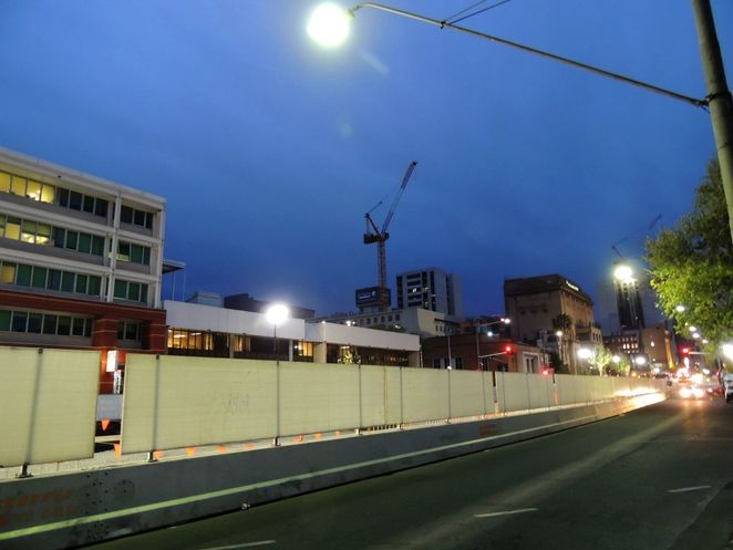 the hive, renewal sa, royal adelaide hospital, Adelaide , east end, light show, Allied Health Building, north terrace tram extension, roadworks