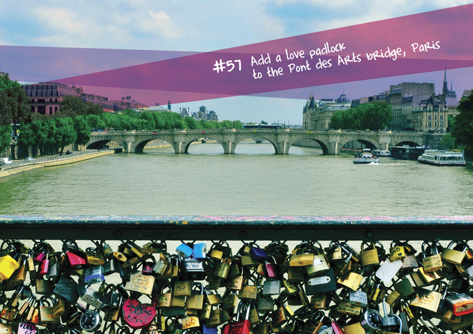 The love padlock, Pont des Arts bridge, Paris, The Bucket List Expo, Adventure, Fun, Family, Gen Y, Baby Boomers, Brisbane Convention & Exhibition Centre, Travel, Skydiving, Surfing