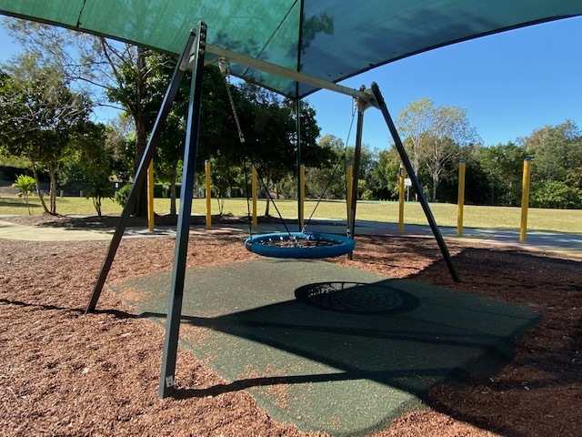 This swing allows multiple children to play simultaneously