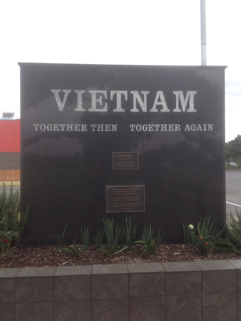 Vietnam Veteran's Memorial corner Melbourne Rd & Swinburne St