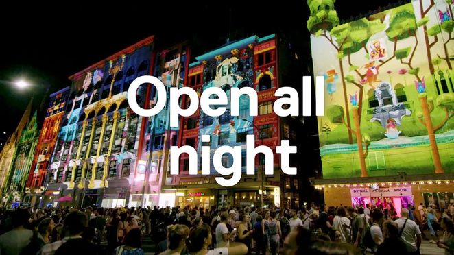 white night melbourne 2018, night life, community event, free events, fun thning sto do, exhibitions, films, lighting, street party, projections, nonstop adventure, artists, bands, music, from dusk to dawn