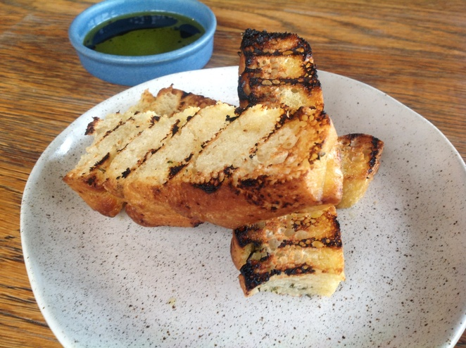 Wood fired focaccia, Acre Eatery