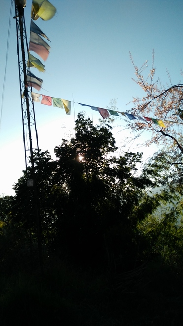 Aswin Homestay, prayer flags, Borong, gompa, Mountains, view, Sikkim