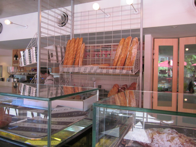 Baguettes, fresh baked bread, French Cafe