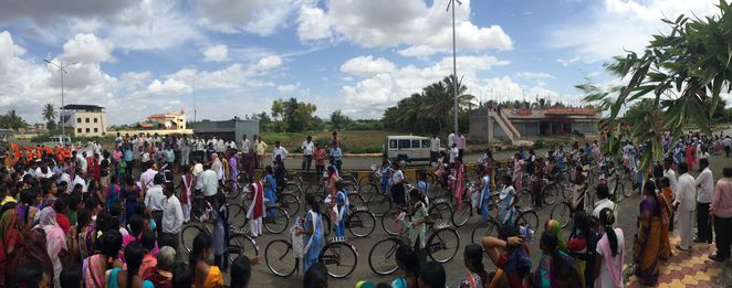 bike, cycle, atma, india, donate, charity, girls, school, education