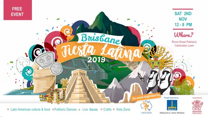 brisbane fiesta latina 2019, laca queensland, community event, cultural event, fiesta latina 2019, laca qld latin american commuity, free festival, food and music festival, fun things to do, multicultural society, latin american culture