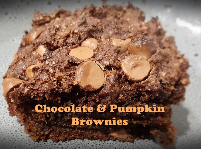 chocolate and pumpkin brownies, brownies, recipes, chocolate, pumpkin, australia, cocoa, flour, sugar, nestle choc bits, vegan, no egg, no dairy, easy, kids, family, healthy,