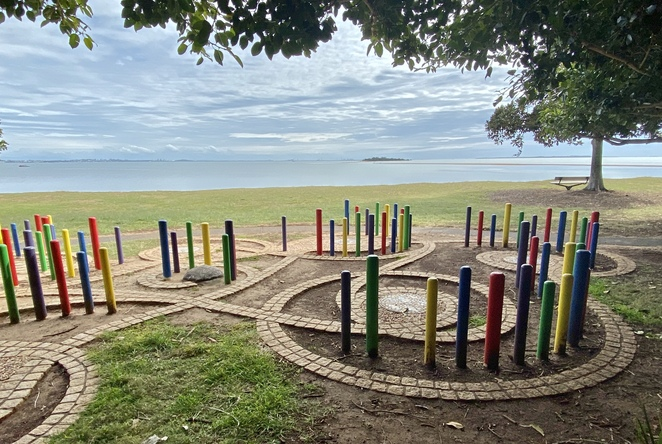 Explore the area's marine life in this colourful labyrinth