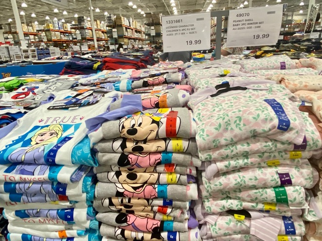 Costco Wholesale sells clothes for the whole family