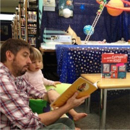Daddy and Me storytime AH Bracks Library Melville reading books pre-school young toddler father dad uncle brother granddad