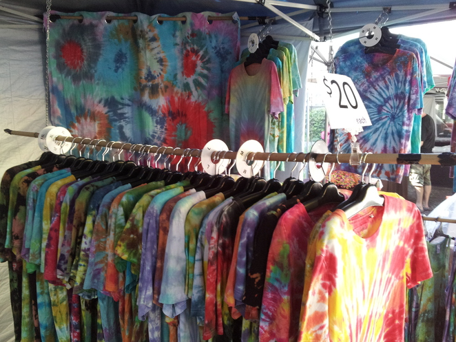 davies park market west end tie dye shirt