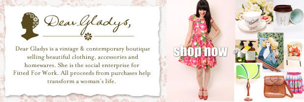 dear gladys, vintage, clothing, online shopping, fitted for work, not for profit, vintage dresses, online clothing boutique