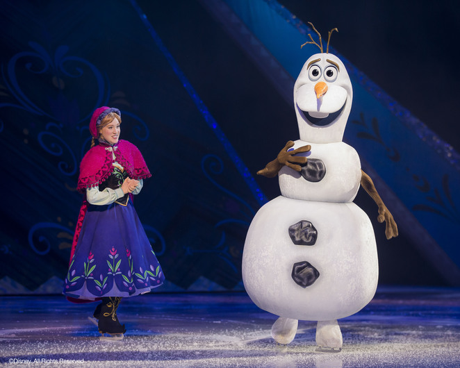 disney on ice presents frozen anna and olaf