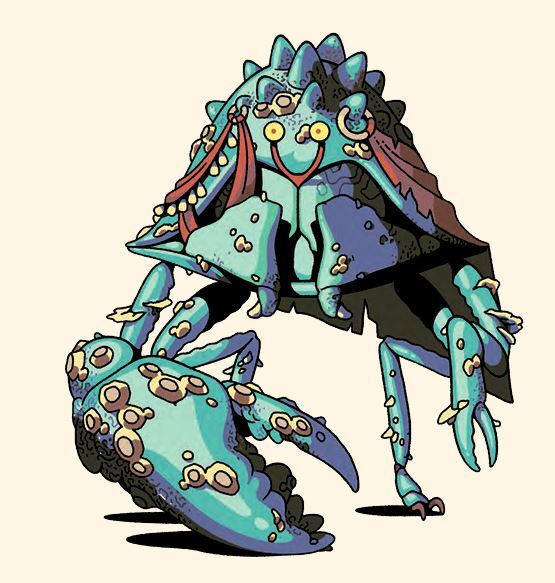 Dungeons and Drawings, Crab folk, crab monster, art, Dungeons and Dragons art, monster art