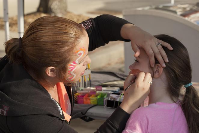 Face painting, child, easter, bunnings,