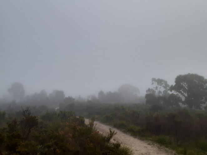 Foggy view from Bunarong Park lookout