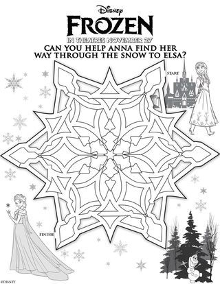 Frozen theme party, Disney, free printable activity pages