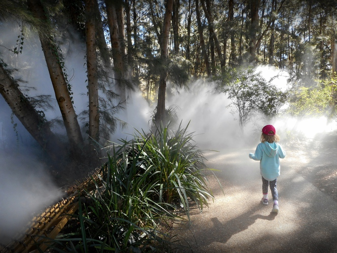 Fujiko Nakaya, fog sculpture, canberra, national gallery of australia, art, sculpture, public art,
