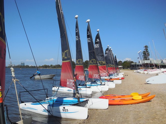 Funcats catamaran hire on the Swan River