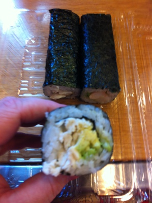 Chicken and avocado roll