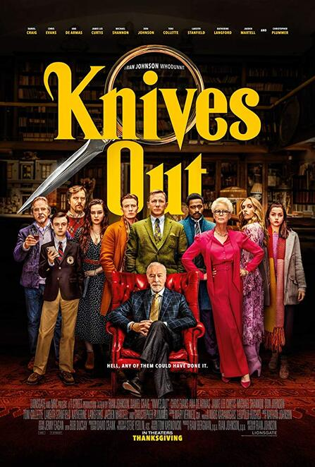 knives out film review 2019, knives out movie review 2019, studio canal, nedco, village cinemas jam factory, south yarra movie event, community event, fun things to do, cinema, performing arts, actors, actresses, rian johnson, christopher plummer, daniel craig, chris evens, ana de armas, jamie lee curtis, michael shannon, don johnson, toni collette, lakeith stanfield, katherine langford, jaeden martell, whodunnit, movie buffs, night life, date night, mystery, thriller, crime, net & co