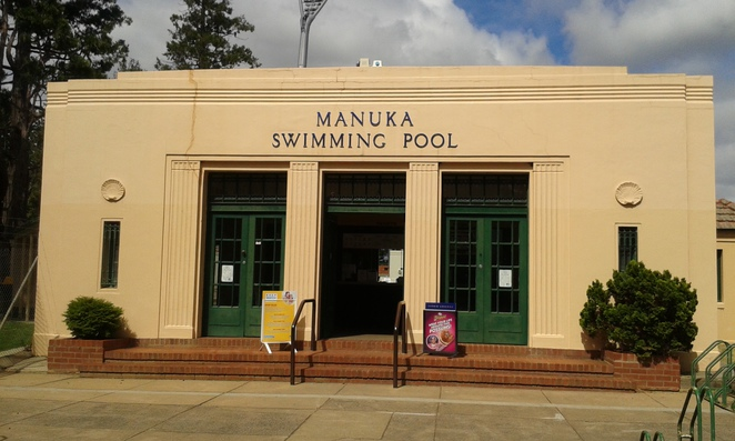 manuka pool, telopea park, canberra, ACT, history, jogging, lake burely griffin, kingston foreshore,