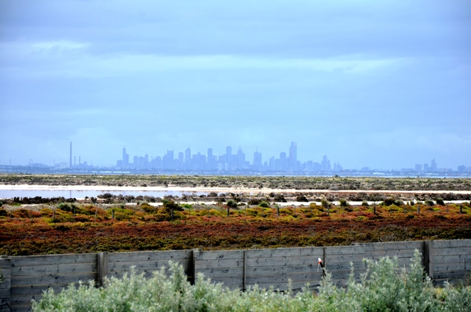 Melbourne Shines in the distance at Pt Cook