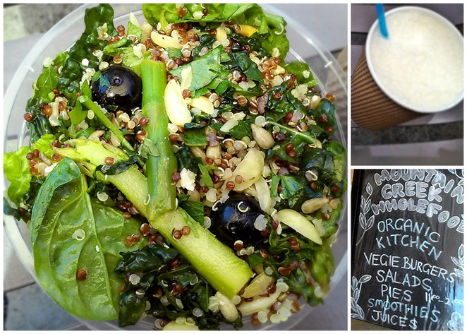 mountain creek wholefoods, canberra, ACT, healthy takeaway, healthy, salads,