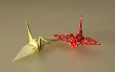 Japanese origami. Image by Laitche on Wikimedia Commons