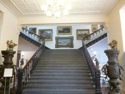 Double staircase at the entrance of the Art Gallery of Ballarat