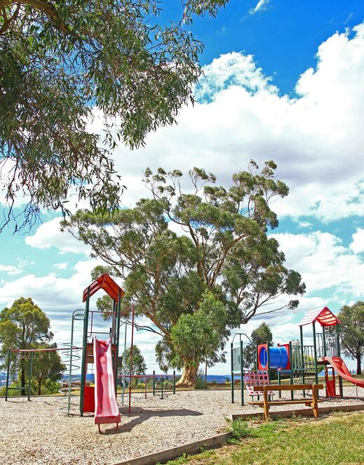 Playground and gum tree.