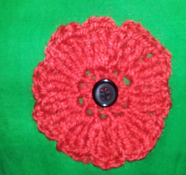 poppy, red poppies, remembrance, poppy project, centenary, crochet, may cross