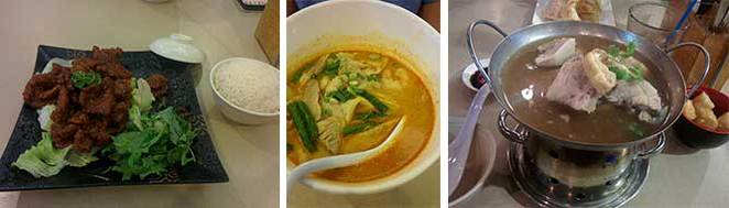 Guinness Pork Chop, Laksa, Pork Tea at Roti Place