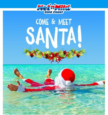 Santa at Wet'n'Wild Gold Coast