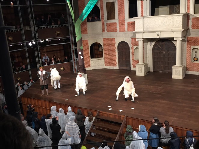 Shakespeare, Globe, pop up, As you like it, domain, Sidney Myer music bowl, all male, Melbourne
