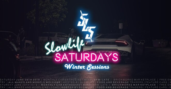 slowlife saturdays winter sessions 2019, motoring meet and cruise, slowlife, brickworks marketplace, torrensville adelaide, motoring community event, car culture, community event, fun things to do, entertainment, free family friendly event, youth focus motoring event, yiros central brickworks, cibo espresso torrensville, zambrero, oasis pizza and pasta, safe driving event