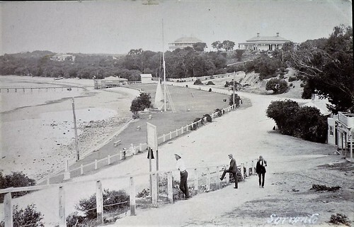 Sorrento Foreshore Pier and Historic Buildings 1870s - Nepean Historical Society