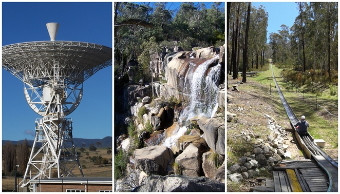 (South) East of Canberra - Canberra Deep Space Complex, Gibraltar Falls and Bobsledding at Corin Forest Mountain Retreat, road trips, day trips from canberra, tourists drives,