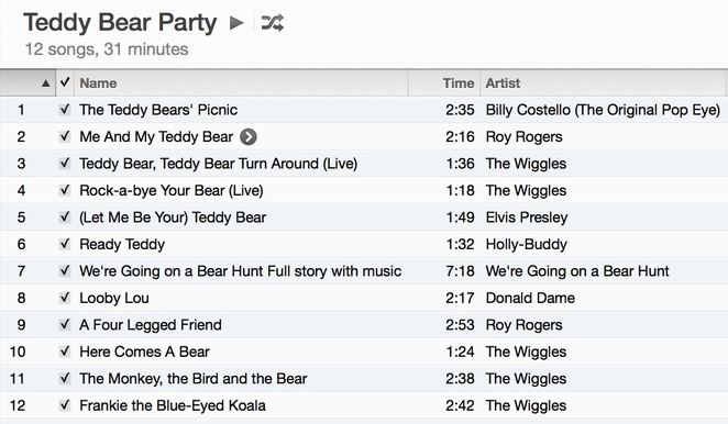 Teddy Playlist
