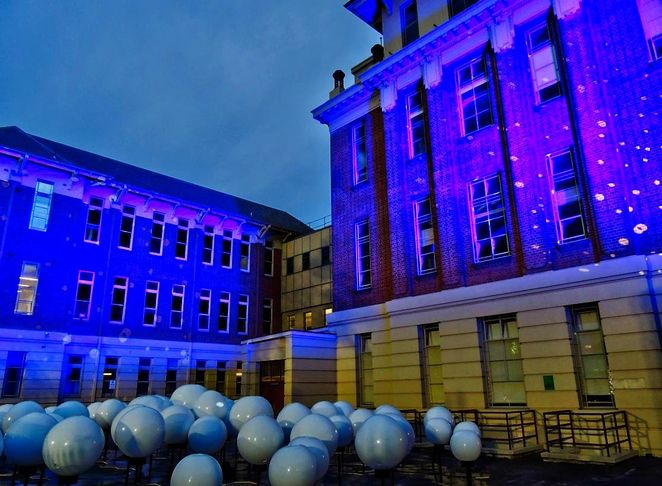 the hive, renewal sa, royal adelaide hospital, Adelaide , east end, light show, Allied Health Building