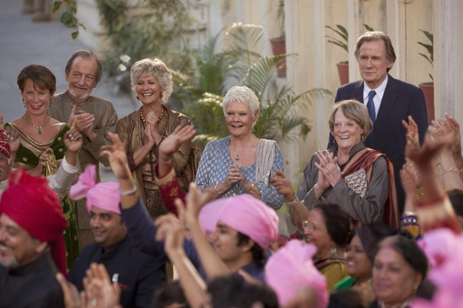 the second best exotic marigold hotel, judy dench, maggie smith, film review, movie review, bill nighy, dev patel, penelope wilton, celia imrie, tina desai, shazad latif