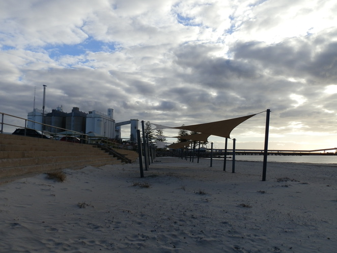 Wallaroo, Office Beach, shade sails, jetty