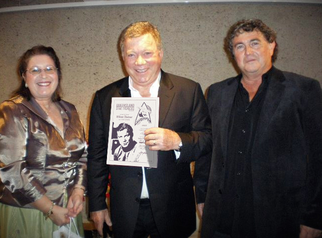 william Shatner, Queensland Star Trekkers Fan Club, Patron, Star Trek, James T Kirk, Captain Kirk