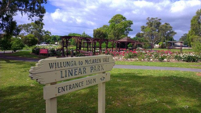 willunga rose garden, willunga recreation park, willunga to mclaren vale linear park