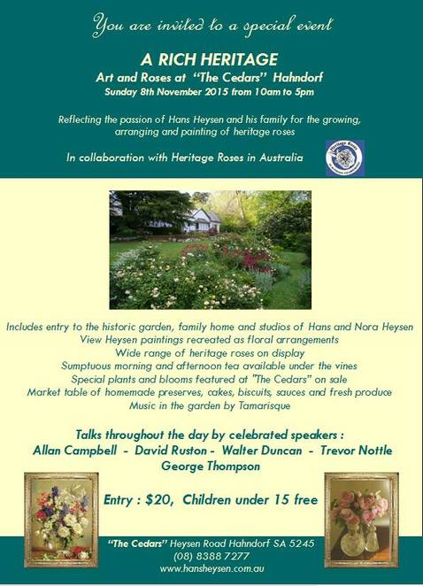 This is a not to be missed event for roses lovers.